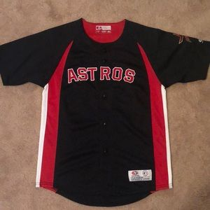 Boys vintage Astros Jersey red black white